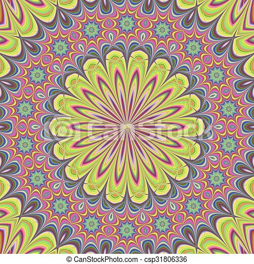 Floral mandala design background - csp31806336