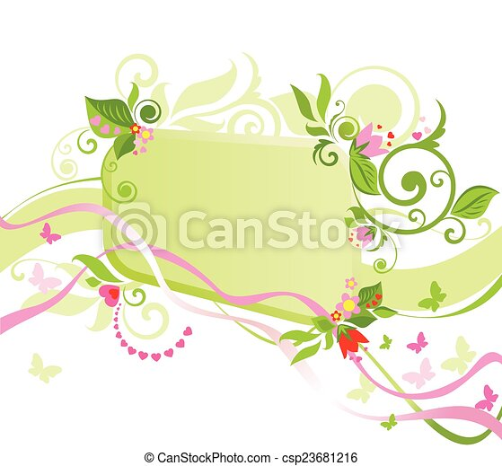 Un marco floral - csp23681216