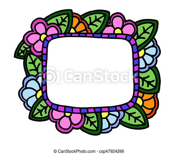 Un marco floral - csp47924266