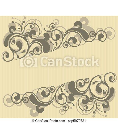 Un marco floral - csp5970731
