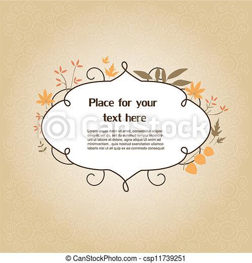Un marco floral - csp11739251