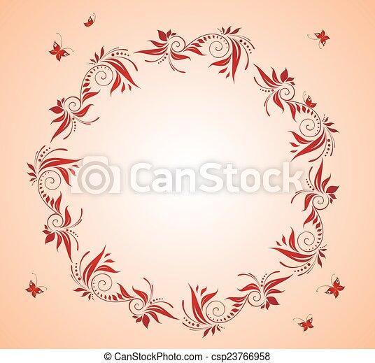 Un marco floral - csp23766958