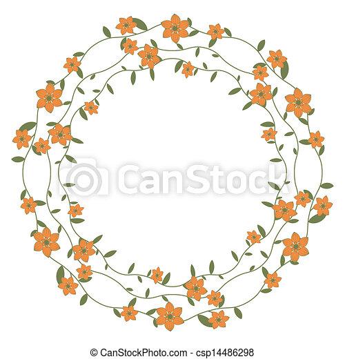 Un marco floral - csp14486298