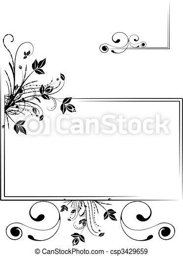 Un marco floral - csp3429659