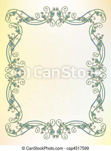 Un marco floral - csp4517599