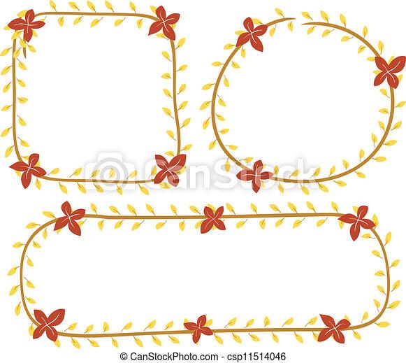 Un marco floral - csp11514046