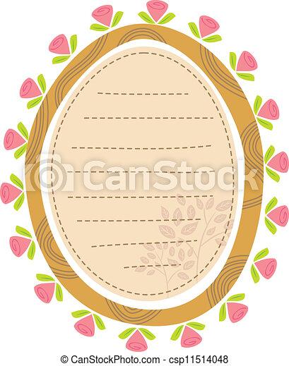 Un marco floral - csp11514048