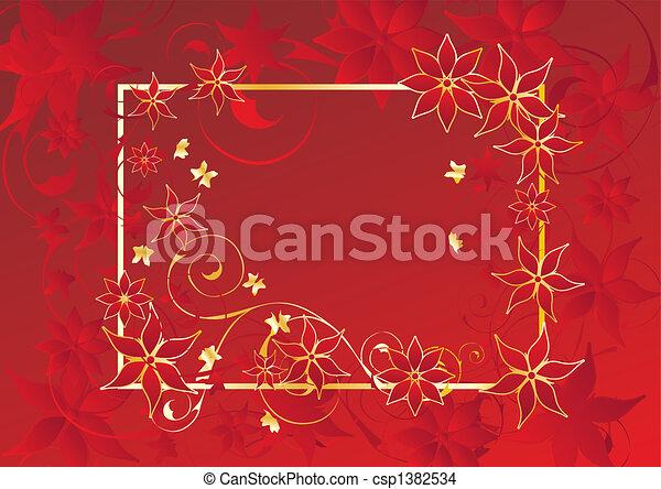 Un marco floral - csp1382534