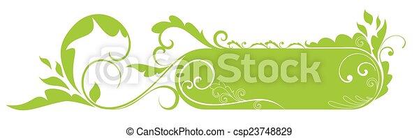 Un marco floral - csp23748829