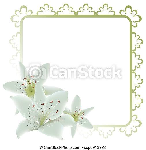 Un marco floral - csp8913922