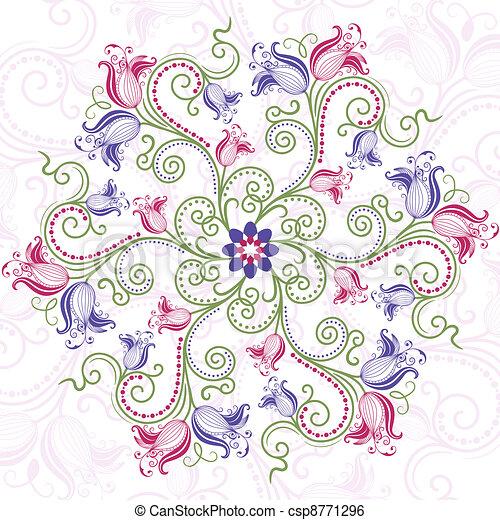 Un cuadro floral colorido - csp8771296