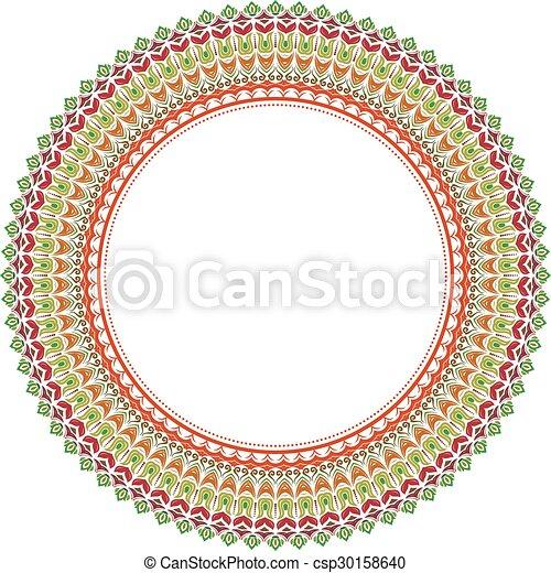 Vector floral, buen marco - csp30158640