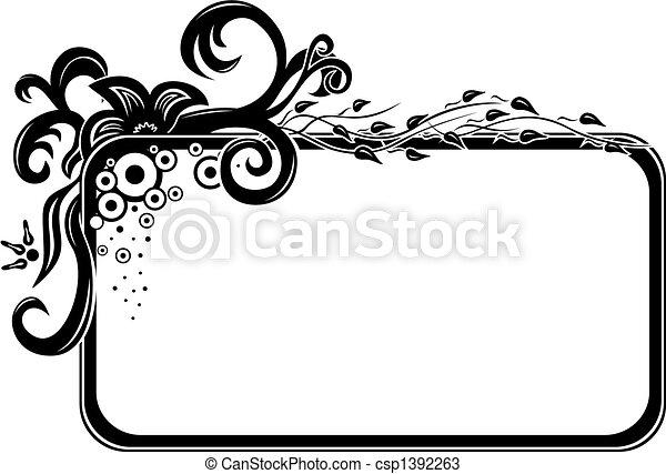 Un marco floral - csp1392263