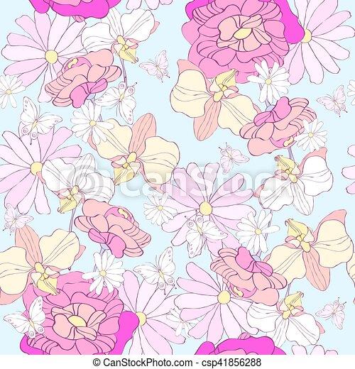 floral model - csp41856288
