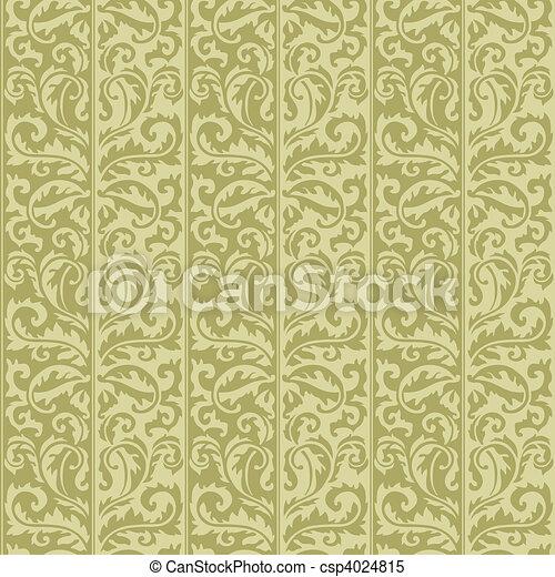floral model, vector, seamless - csp4024815