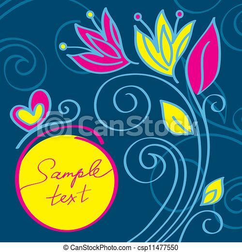 Un fondo floral moderno - csp11477550