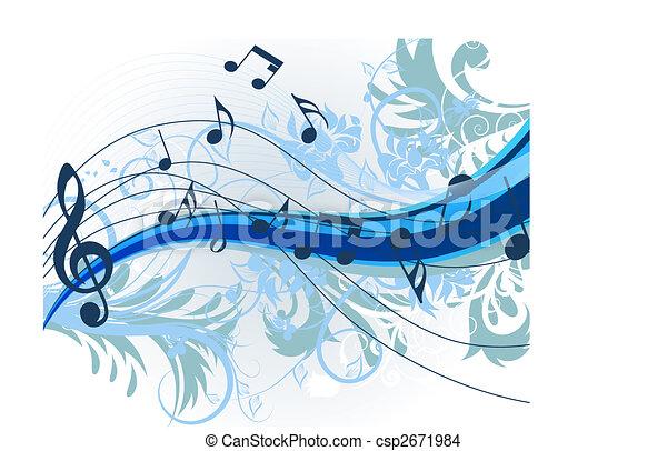 Floral music - csp2671984