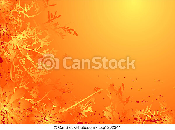 Floral suave naranja - csp1202341
