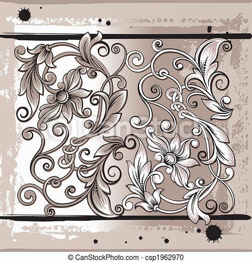 floral onderdelen, decorativ - csp1962970
