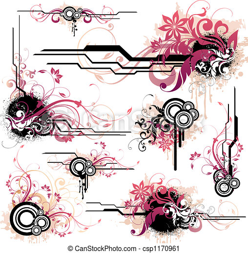 floral onderdelen, ontwerp - csp1170961
