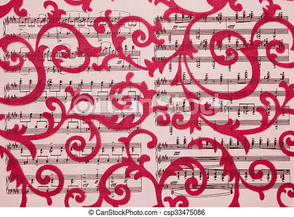 floral, ornament, barok, ornament, style. - csp33475086