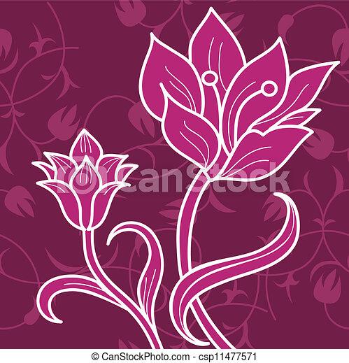 floral, ornament - csp11477571