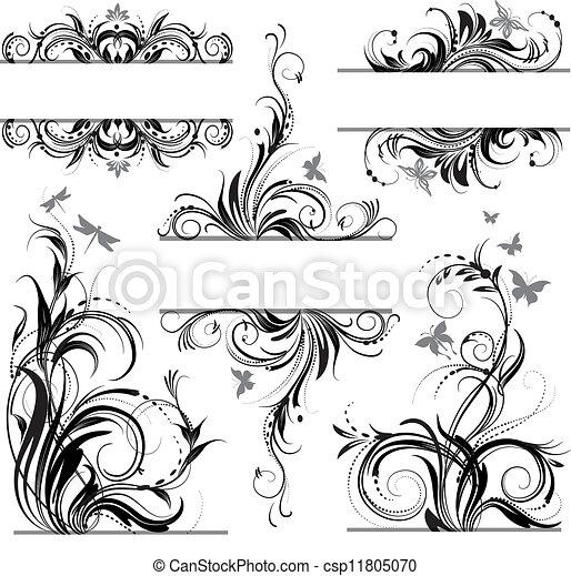 floral, ornament - csp11805070