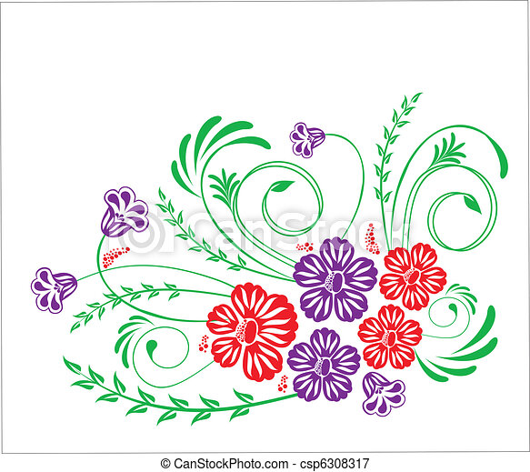 floral, ornament - csp6308317
