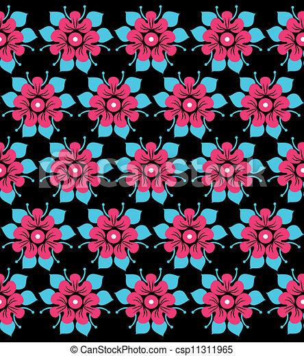 floral, ornament - csp11311965