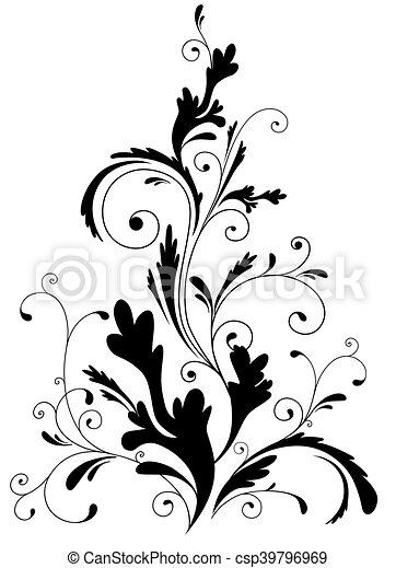 floral, ornament - csp39796969