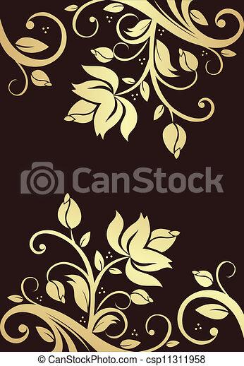 floral, ornament - csp11311958