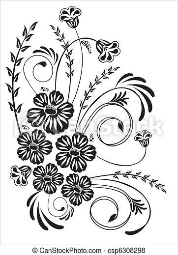 floral, ornament - csp6308298