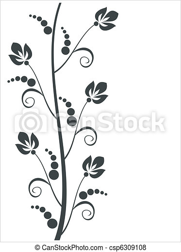 floral, ornament - csp6309108