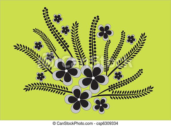floral, ornament - csp6309334