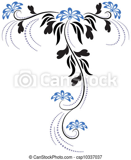 floral, ornament - csp10337037