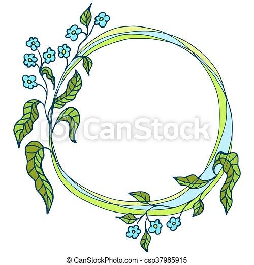 floral ornament, flower frame - csp37985915