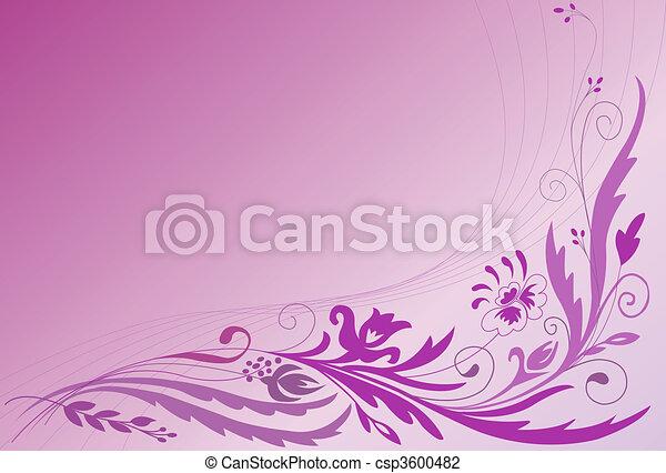 Floral ornament  - csp3600482
