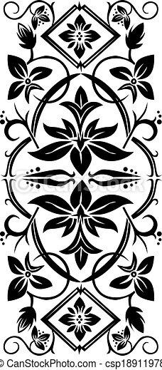 floral ornament - csp18911978