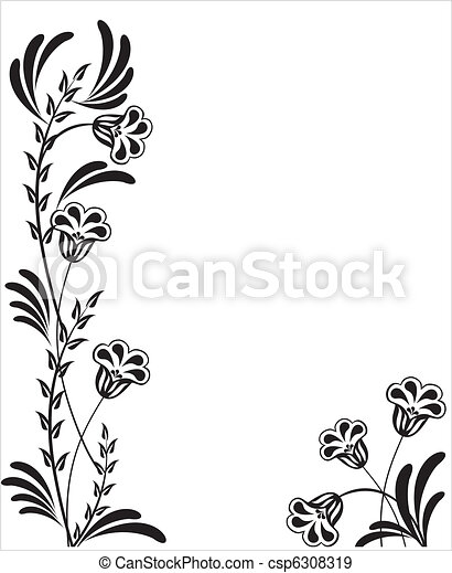 floral, ornament - csp6308319