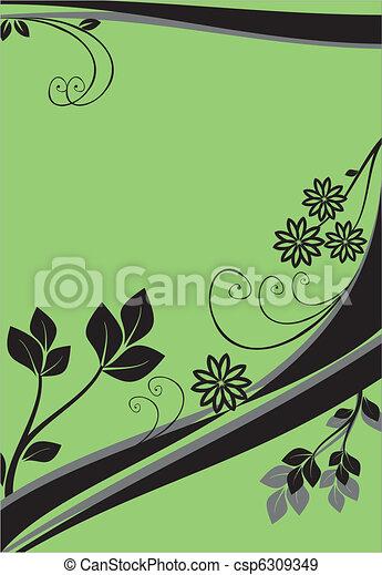 floral, ornament - csp6309349