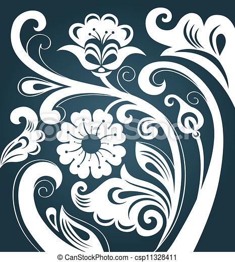 floral, ornament - csp11328411