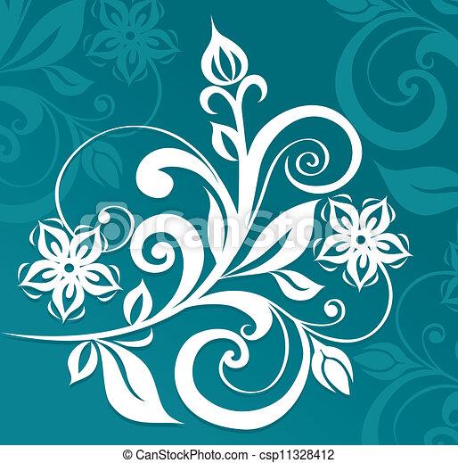 floral, ornament - csp11328412