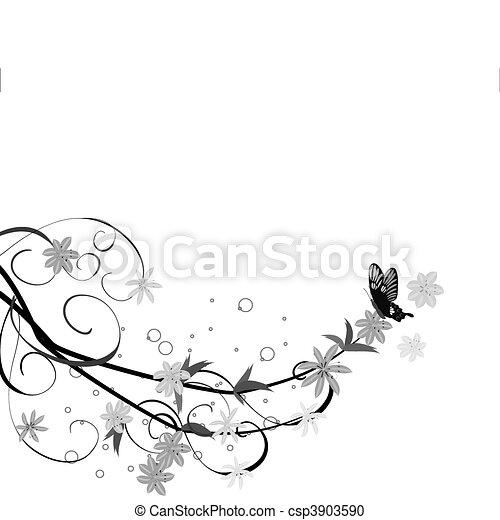 floral, ornament - csp3903590
