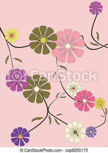 floral, ornament - csp6255170