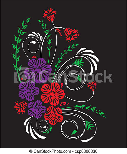 floral, ornament - csp6308330