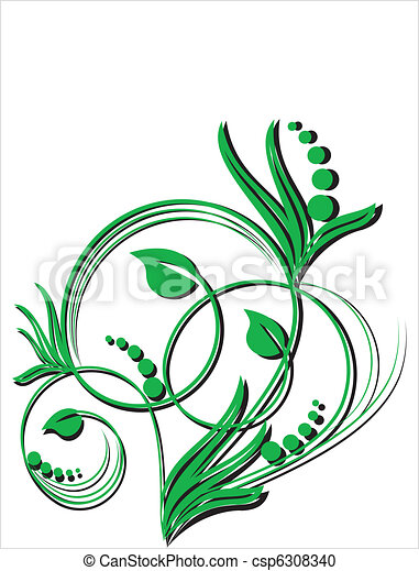 floral, ornament - csp6308340