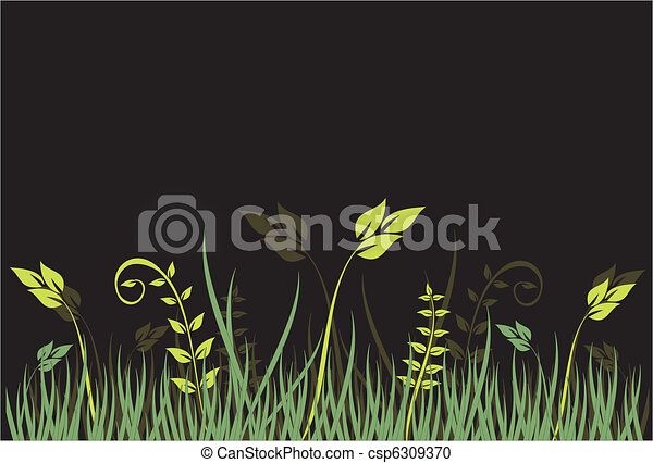 floral, ornament - csp6309370