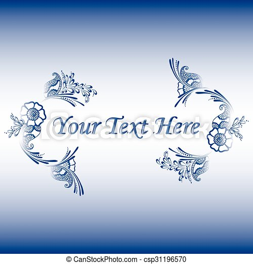 floral ornament with a place for text - csp31196570