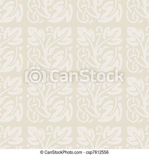 floral ornaments pattern - csp7612556
