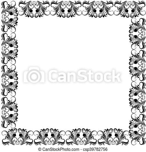 floral ornate black frame floral ornate frame with black floral
